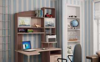 Компьютерные столы с полками (28 фото): высокий рабочий стол с ящиками