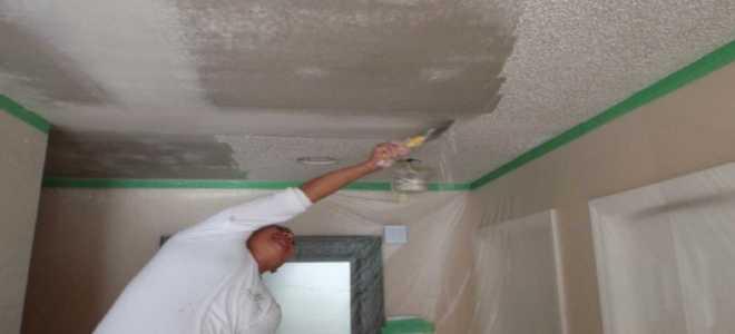 Как смыть побелку с потолка: как смывать и как быстро снять со стен без грязи
