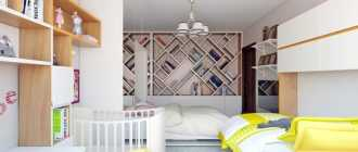 Спальня и детская в одной комнате (54 фото): зонирование совмещенной комнаты
