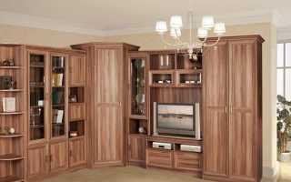 Угловая стенка (39 фото): модели с вместительным шкафом в маленькую комнату