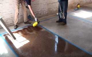 Бетонный пол в гараже: как залить и покрасить своими руками