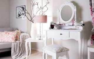 Белый туалетный столик (64 фото): модели с ящиками в стиле классика и прованс