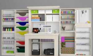 Шкафы для рукоделия (28 фото): складной шкаф-трансформер для шитья