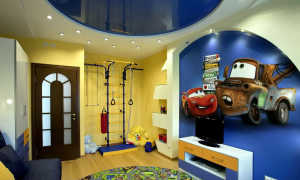 Натяжной потолок в детскую комнату для мальчика (51 фото): для подростка