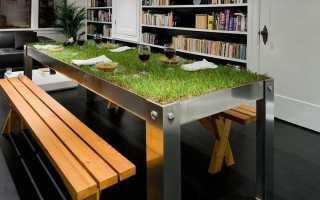 Необычные столы (31 фото): столик оригинальной формы с фотопечатью для гостиной и стулья под старину
