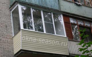 Остекление балконов с крышей: с выносом и установкой