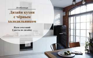 Холодильник черного цвета (57 фото): черно-белые модели в интерьере кухни