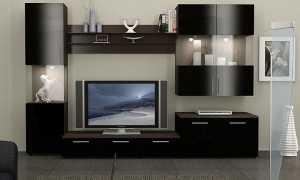 Стенки в гостиную (50 фото): красивая мебель в зал, вместительные подвесные варианты