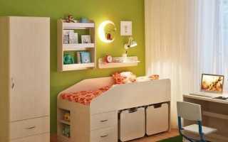 Кровать-чердак «Легенда»: модель «Сказка» с рабочей зоной розового цвета, отзывы
