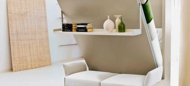 Двуспальные кровати-трансформеры: шкаф и откидная модель от стены