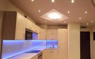 Светодиодные светильники для натяжных потолков (66 фото): какие выбрать и расположить