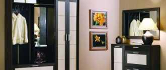 Стенки в прихожую (25 фото): небольшие угловые модели, маленькая красивая стенка в коридор