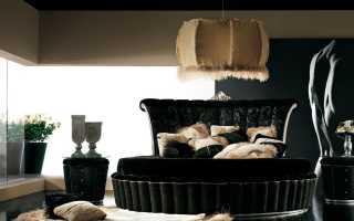 Дизайн черной спальни (56 фото): спальня в темных тонах с золотом, с черной кроватью