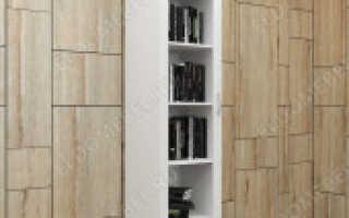 Белые книжные шкафы: шкаф со стеклянными дверцами