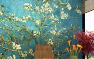 Обои «Ван Гог» (51 фото): панно с цветущим миндалем и сакурой в интерьере