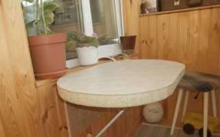 Откидной столик на балкон (35 фото): как сделать складной и раскладной стол