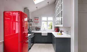 Дизайн кухни 7 кв. м. с холодильником (32 фото): проект планировки