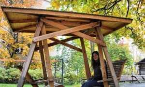 Беседки-качели: садовые сооружения из профильных труб и конструкции-трансформеры
