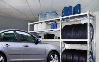 Стеллажи для гаража (94 фото): полки под оборудование, системы хранения колес