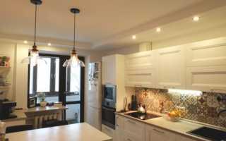 Потолки из гипсокартона для кухни  (77 фото)