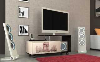 Столы под телевизор (26 фото): поворотные столики в интерьере