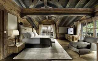 Спальня в стиле шале (39 фото): дизайн интерьера спальни в доме