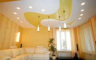 Точечные светильники для натяжных потолков (77 фото): расположение лампочек и спотов