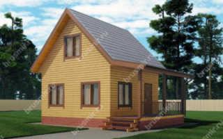 Дом из бруса с мансардой (45 фото): строительство фундамента дома размером 6х8, брусовая мансарда с балконом
