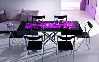 Раскладные столы для гостиной: складные и раскладывающийся модели для зала