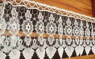Вязаные шторы (38 фото): связанные крючком или спицами