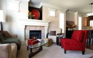 Красное кресло: красная мебель в интерьере, с жучками
