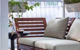 Диван на балкон (54 фото): узкий вариант для лоджии, модель со шкафом или сундуком, самодельный диван-тумба