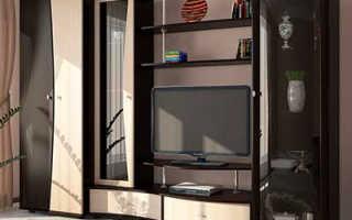 Стенки со шкафом для одежды: мебельные комнатные модели с пеналом в гостиную комнату и зал