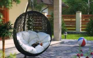 Подвесные кресла из ротанга (52 фото): мебель из искусственного ротанга своими руками