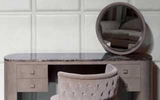 Туалетный столик (67 фото): выбор будуарного трюмо подходящего размера.