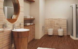 Плитка на пол в ванную (54 фото): напольное покрытие для душевой комнаты под дерево из ПВХ