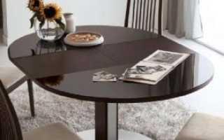 Круглые раскладные столы: складные и раздвижные модели-трансформеры с раскладывающимся механизмом