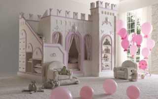Кровать для девочки (87 фото): детская кроватка в комнату для ребенка 7 лет и старше, кровать в виде замка