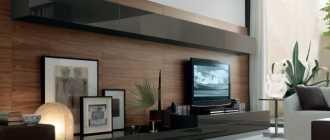 Стенки под телевизор в современном стиле (36 фото): длинные модульные модели под ТВ в стиле «лофт»