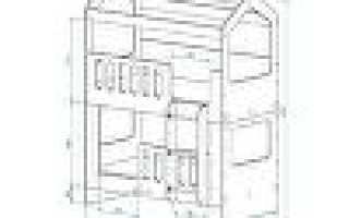 Двухъярусная кровать-домик: как сделать с крышей вверху, модель «Скворушка»