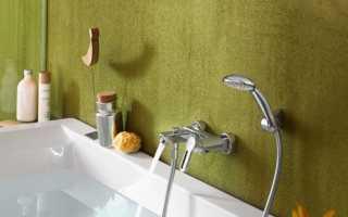 Высота смесителя над ванной: стандарт установки крана от пола