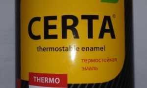 Термостойкая эмаль Certa: технические характеристики и срок годности, черное антикоррозионное покрытие