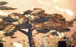 Панно из плитки: модели из зеркальной и стеклянной керамической плитки на стену