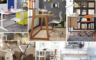 Письменный стол (62 фото): дизайнерские стильные большие и узкие стеклянные рабочие изделия для дома у окна