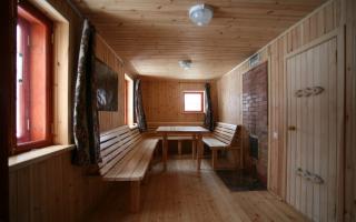 Баня на дровах (76 фото): русская сауна с бассейном, топка и купель для дровяной деревенской парилки