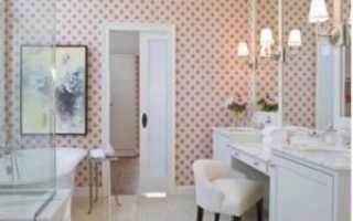 Обои для ванной комнаты (65 фото): влагостойкие и моющиеся