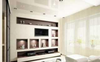 Ниши из гипсокартона в гостиной (37 фото): как оформить нишу в стене зала, оформление и дизайн выступов в интерьере