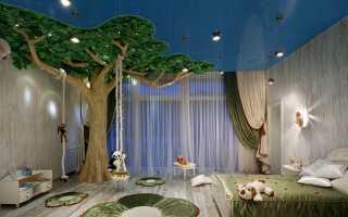 Подвесные потолки в детской комнате (45 фото): навесные потолки для спальни