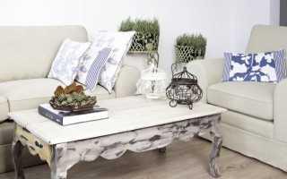 Журнальные столики в стиле «прованс»: стильные варианты с росписью стола
