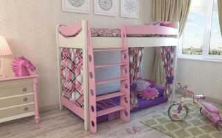 Двухъярусная кровать для девочек (28 фото): двухэтажные модели в комнате для двух детей